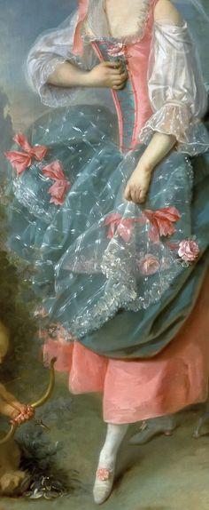 Jacques-Louis David: Mlle Guimard as Terpsichore #Art #Detail