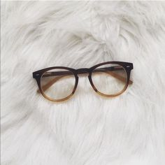 Ombré glasses frames Brown ombré glasses. Brand New. ( I Do Not Trade) Accessories Glasses