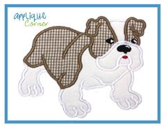 Bulldog Applique Design