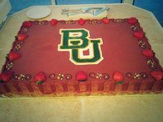 Chocolate cake + strawberries + #Baylor = love. Awesome BU grooms cake. (via sean_doerre and jjoseph13 on Twitter) #SicEm