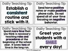 Great teaching tips!