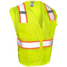 ML Kishigo 1195 Ultra-Cool Mesh 6-Pocket Safety Vest - Yellow/Lime | #SafetyVest