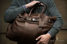 Brunello Cucinelli tote for weekend getaways and short trips. ed4e05de32ece