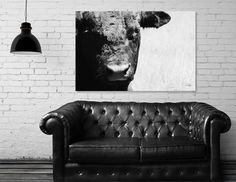 Discover «Black Bull», Limited Edition Canvas Print by Chanelle  Lynn - From $75 - Curioos