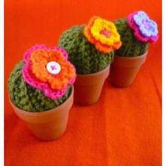 Cactus Flor Tejido Al Crochet Macetita Barro Ideal Regalo - 6723569 - disponible en CAPITAL FEDERAL