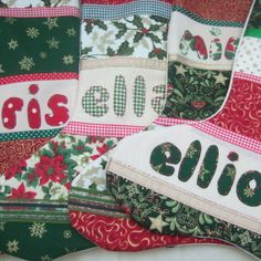 Personalised Christmas Stockings £10.00