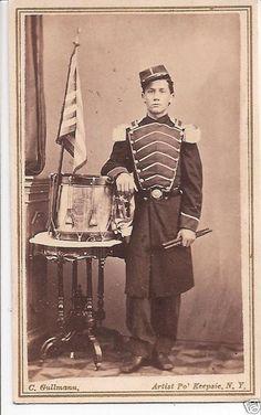 Civil War Uniforms | Civil War Drummer Boy, Flag, Drum, Uniform