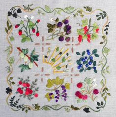GOURMAND Embroidery Kit. This company has beautiful designs! Threads not included with kits.