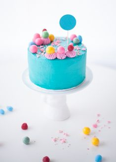 national cake day rainbow candy cake