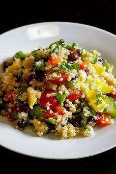 Black Bean and Mango Quinoa Salad (Vegetarian, Gluten Free, Nut Free)