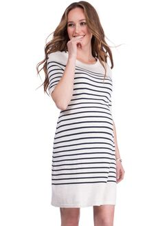51472b449e1 Queen Bee Bex Striped Knit Maternity Nursing Dress by Seraphine Maternity  Nursing Dress