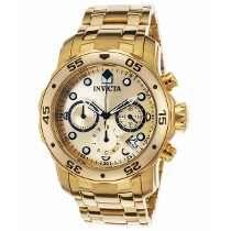 33e200fd558 Relogio Invicta Masculino Pro Diver Scuba 0074 - Ouro 18k Relógios Preto