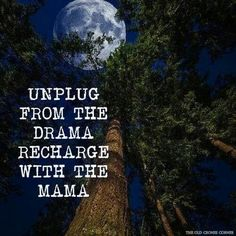 Recharge with mother earth.