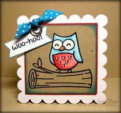 Annie Rose Makes Things: Woo Hoo! - a Lawn Fawn card