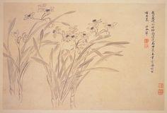 清 惲壽平 水仙, Narcissi, Yun Shouping (1633-1690), Qing dynasty