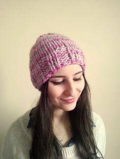 Pink Pom Pom Beanie , Pom Pom Hat , Alpaca Hat