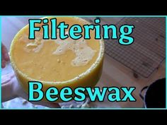 ▶ Cleaning Melting and Filtering Beeswax - YouTube