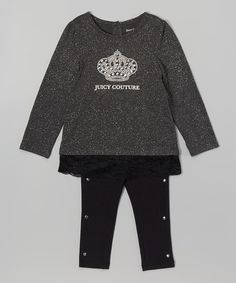 Another great find on #zulily! Dark Gray Logo Tunic & Joggers - Infant, Toddler & Girls #zulilyfinds