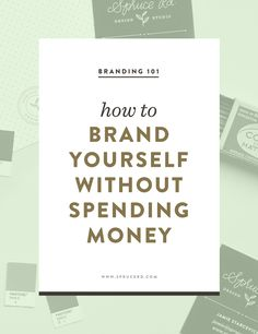 brand yourself without spending money — Spruce Rd. How to brand yourself without spending money Personal Branding, Marca Personal, Branding Your Business, Business Marketing, Creative Business, Business Tips, Corporate Branding, Logo Branding, Personal Logo