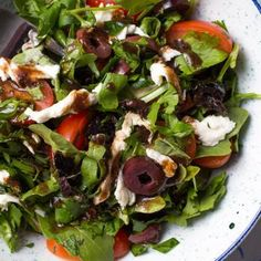 Mixed Herbs Salad With Olives, Tomatoes, and Fresh Mozzarella Recipe