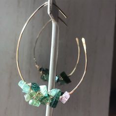 Oh Tourmaline.With all your pinks greens and golden yellows you make every season's must have list! Golden Yellow, Pink And Green, Tourmaline Jewelry, Must Haves, Turquoise Necklace, Seasons, Decoration, Earrings, How To Make