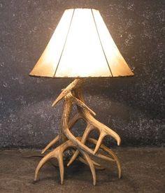 Whitetail Deer Antler Table Lamp Table Light