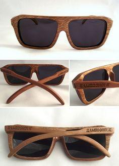 Occhiali da sole in bamboo ~ Bamboo #sunglasses - di @Bambooholic via it.dawanda.com