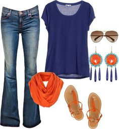 """""""navy and orange"""" by fosterwf on Polyvore"""