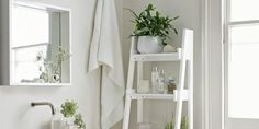 The White Company bathroom ladder shelf