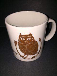 Rare Taylor & NG La Chouette Brown Owl Bird Coffee Mug Tea Cup 1978 True Vintage #TAYLORNG