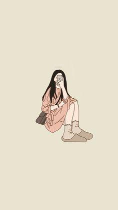 Chibi Wallpaper, Cute Wallpaper Backgrounds, Cute Cartoon Wallpapers, Cute Couple Drawings, Cute Couple Art, Cute Drawings, Korean Art, Cartoon Art Styles, Cute Illustration