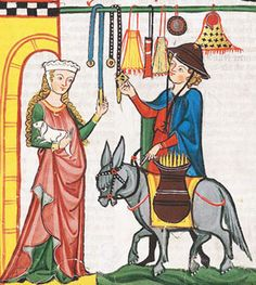Love this image. Manesse Codex, 14th century
