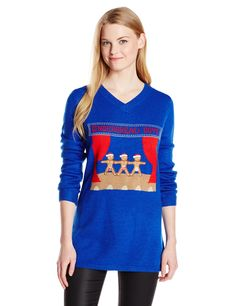 Amazon.com: Isabella's Closet Women's Gingerbread Boys Ugly Christmas Sweater Tunic: Clothing