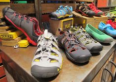 """""""In the evolution of lightening and streamlining footwear, Keen introduces CNX technology for spring 2013."""" trailspace.com"""