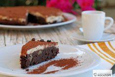 Premium Espresso-Schokoladen-Brownie-Kuchen