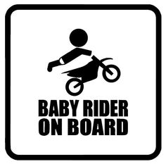 Dirt Bike Baby Rider On Board Kid Baby Son by VinylCreator on Etsy