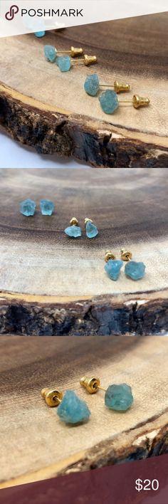 Spotted while shopping on Poshmark: RESTOCK Raw Aquamarine Crystal Earrings! #poshmark #fashion #shopping #style #Estrella & Luna #Jewelry