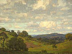 "William Wendt . California Landscape . 1910, Oil on Canvas, 24"" x 32"""