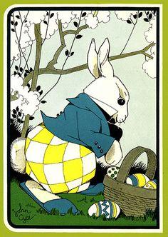 Bunny + eggs