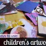 What to do with Childrens Artwork (or. 3 Cool Ways to Use Childrens Artwork and Come Out From Under the Sea of Masterpieces from School Childrens Artwork, Kids Artwork, Projects For Kids, Crafts For Kids, Teaching Art, Teaching Ideas, School Organization, Elementary Art, Art For Kids