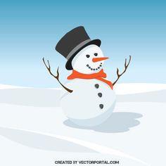SNOWMAN-VECTOR-CLIP-ART