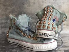 Denim Converse with skulls!