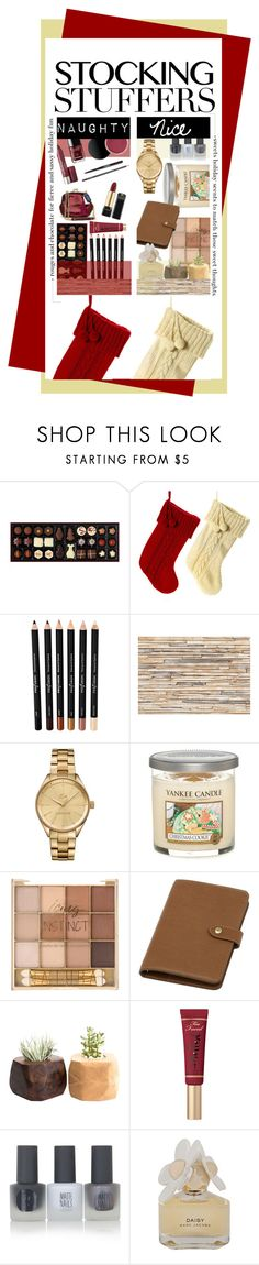 """""""Gifts for the Naughty and the Nice"""" by vxstitus ❤ liked on Polyvore featuring beauty, Brewster Home Fashions, Lacoste, Yankee Candle, Mulberry, Too Faced Cosmetics, Topshop, Marc by Marc Jacobs, giftguide and nice"""
