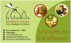 """Ci presentiamo, lo staff della libellula ristorante bistrot vegano a Udine, Carraro Elca """"chef"""", Ferran Marì """"cameriere"""" e Fernando Aloise """"gestore""""."""