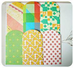Envelope mini pattern paper. $6.95, via Etsy.