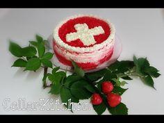 Vacherintorte/ Eis-Torte erfrischend und fein/ Schweizer Bundesfeiertag ... Switzerland, Chile, Strawberry, Fruit, Desserts, Food, Party, National Day Holiday, Swiss Guard