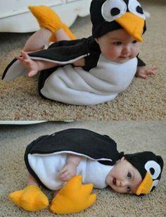 Hermoso disfraz de pinguino para bebe