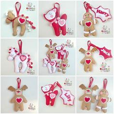 Personalised Christmas Decoration - Choose 1 from Gingie, Rudy, Fawn or Pony Personalised Christmas Decorations, Felt Christmas Decorations, Felt Christmas Ornaments, Christmas Sewing, Handmade Christmas, Handmade Felt, Christmas Makes, Christmas Holidays, Christmas Ideas