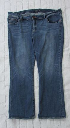 92f887a9fa0 Womans Lucky Brand Georgia Boot Cut Jeans Plus Size 22W Regular  LuckyBrand  Georgia Boots
