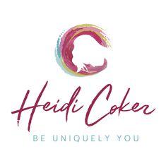 Logo Designer for inspirational life coach Heidi Coker. Personalised expressive energetic design by Case In Point Design Studio. #watercolourlogo #expressivelogo #lifecoachlogo #silhouettelogo #personalbrandinspo #colourfullogo #logodesigner #logodesigninspo